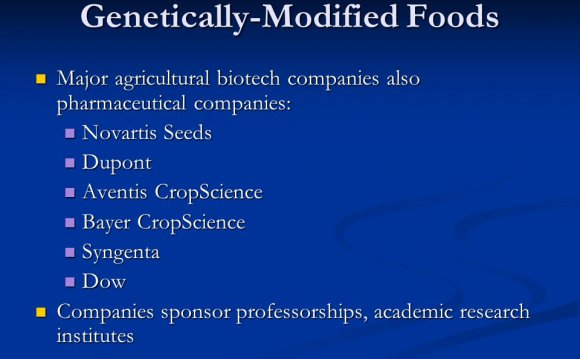 Major agricultural biotech