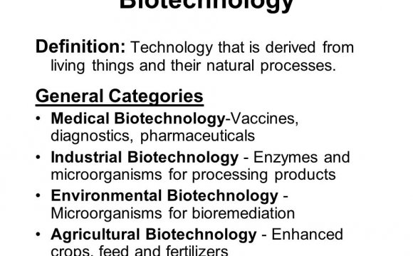 Biotechnology Definition: