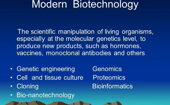 Modern Biotechnology The