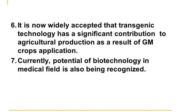 Potential of biotechnology