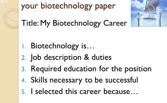 What are some Careers in Biotechnology?