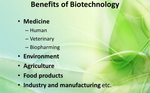 Products of Biotechnology in agriculture