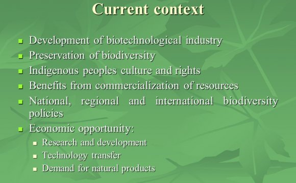 Biotechnological industry