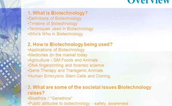 Techniques used in Biotechnology