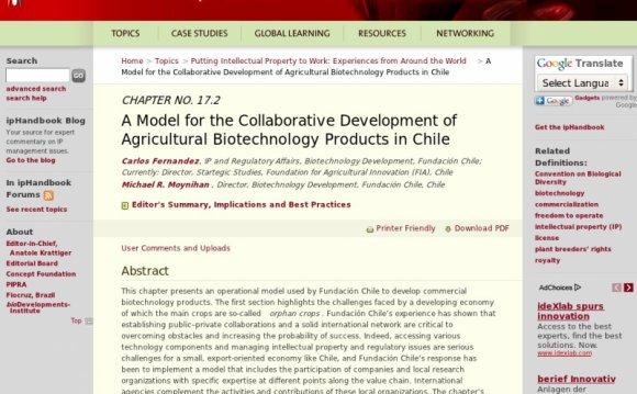 Agricultural Biotechnology products