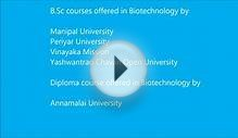 Biotechnology courses through distance education in India