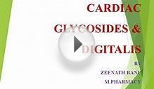 CARDIAC GLYCOSIDES & DIGITALIS