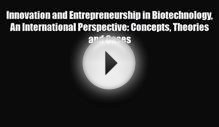 PDF Innovation and Entrepreneurship in Biotechnology An