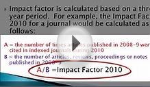 Web of Science-Journal Impact Factors