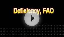 What Is The Definition Of Deficiency, FAO - Medical
